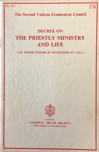 Image for Decree on the Priestly Ministry and Life (De Presbyterorum Ministerio Et Vita)