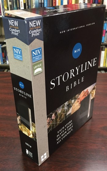 Image for Storyline Bible - NIV, Leathersoft, Black, Comfort Print: Each Story Plays a Part. See How They All Connect. (New International Version)