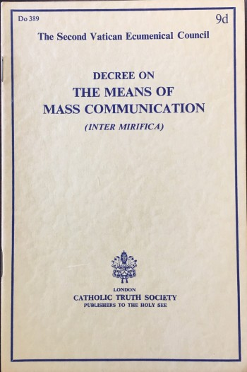 Image for Decree on the Means of Mass Communication (Inter Mirifica)