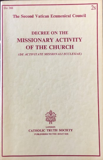 Image for Decree on the Missionary Activity of the Church (De Activitate Missionali Ecclesiae)