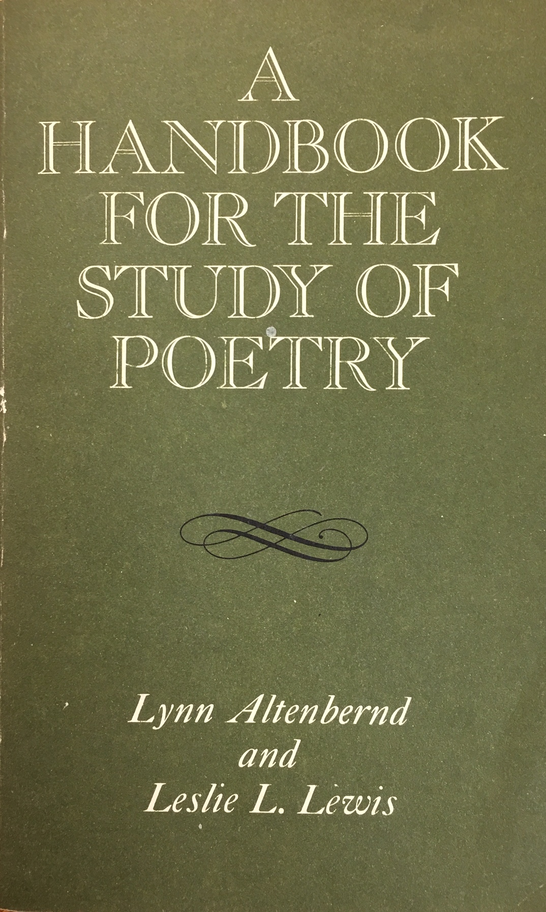 Image for Handbook for the Study of Poetry