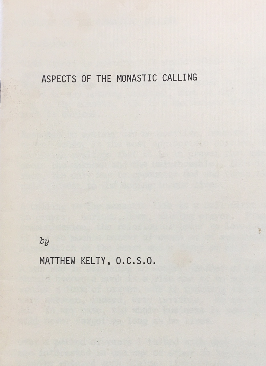 Image for Aspects of the Monastic Calling