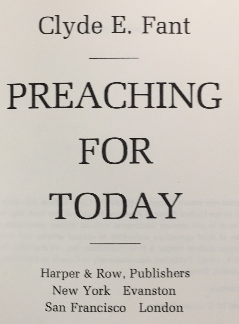 Image for Preaching for today