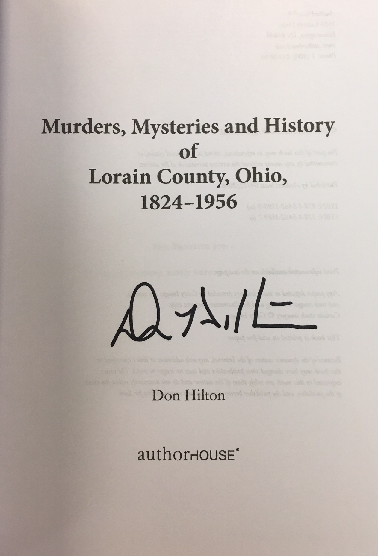 Image for Murders, Mysteries and History of Lorain County, Ohio, 1824–1956