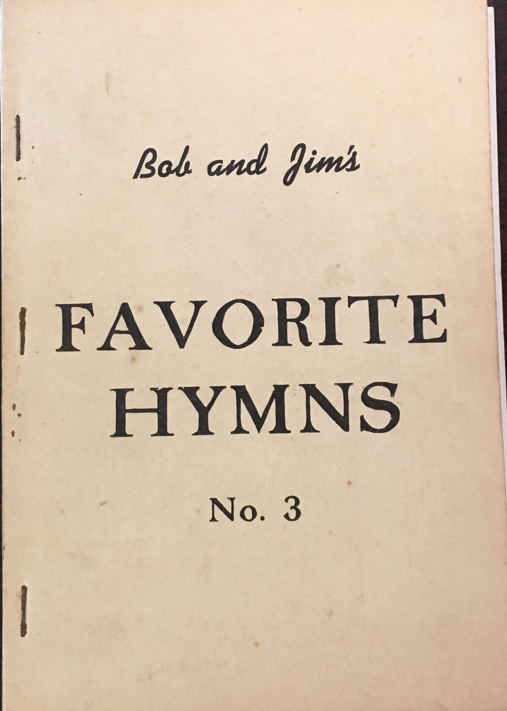 Image for Bob and Jim's Favorite Hymns No. 3