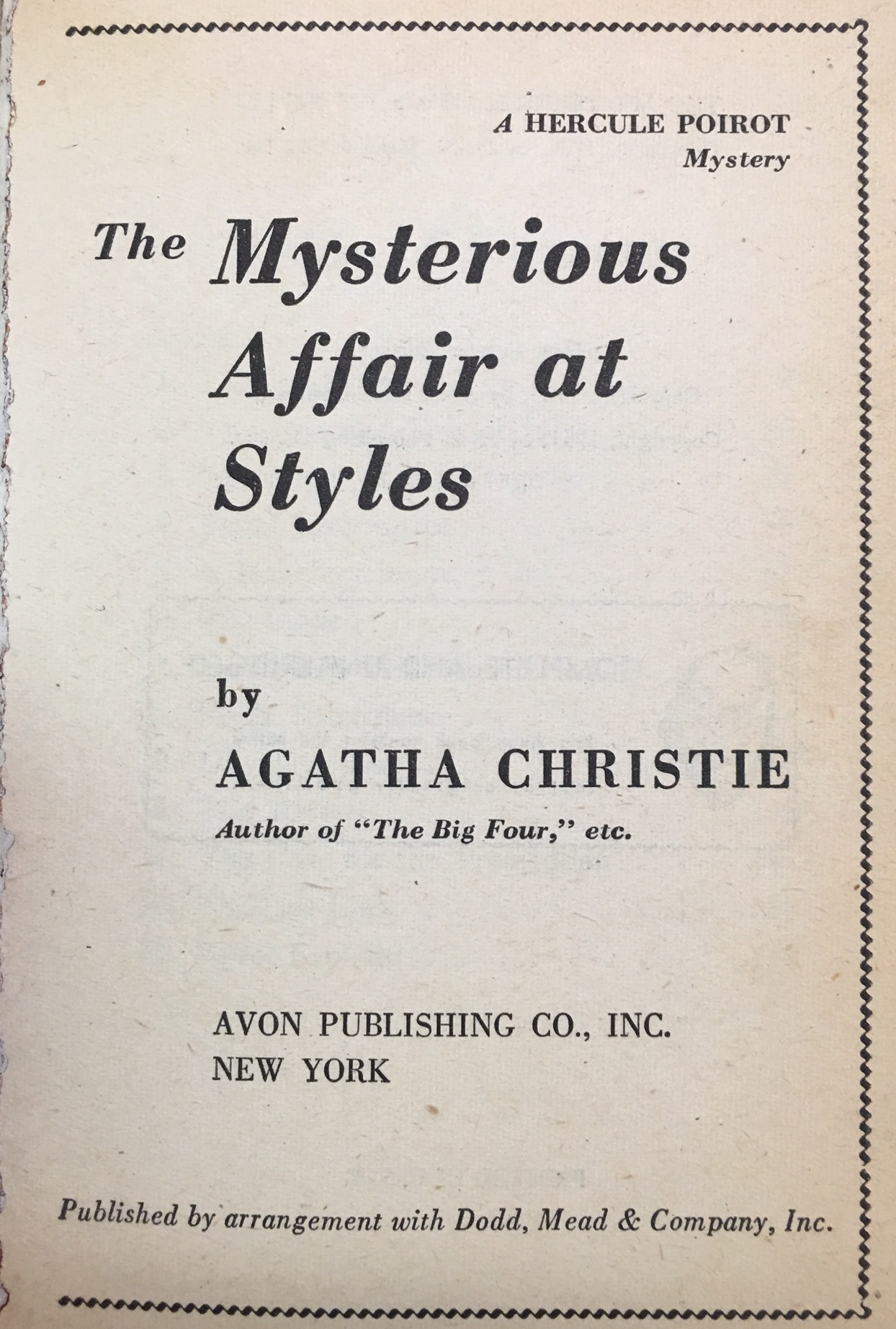 Image for The Mysterious Affair at Styles