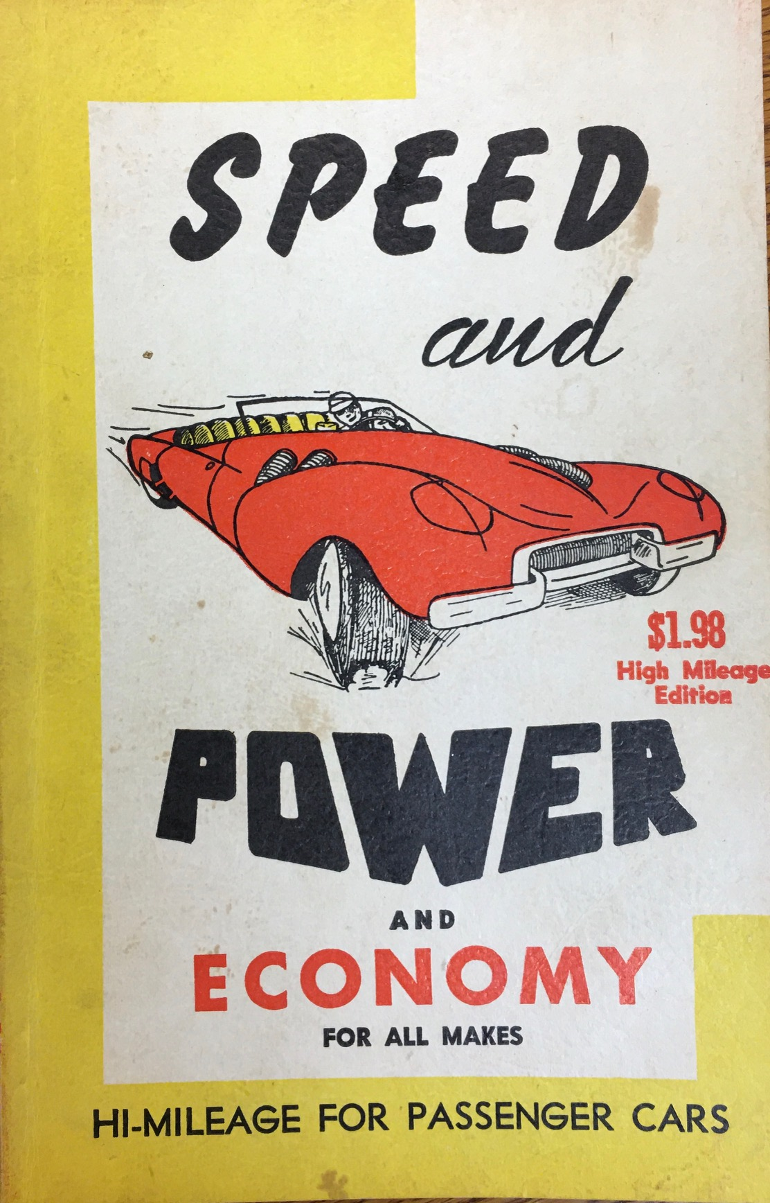 Image for Speed and Power Handbook: Revealing Secrets of the Speedway Champions, Hi-Mileage Tricks of the Master Mechanics (Special Library Edition)