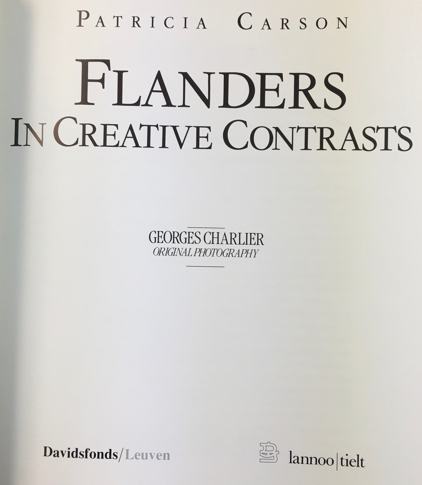 Image for Flanders in Creative Contrasts