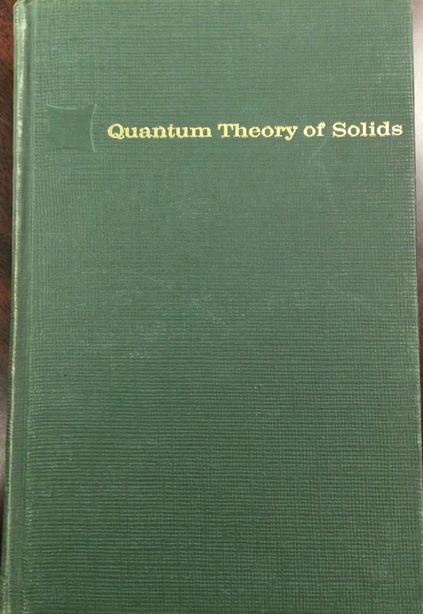 Image for Quantum Theory of Solids