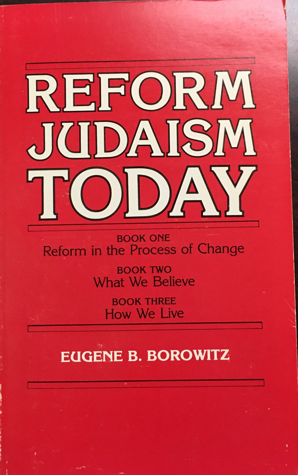 Image for Reform Judaism Today by Eugene B. Borowitz (1983-01-01)