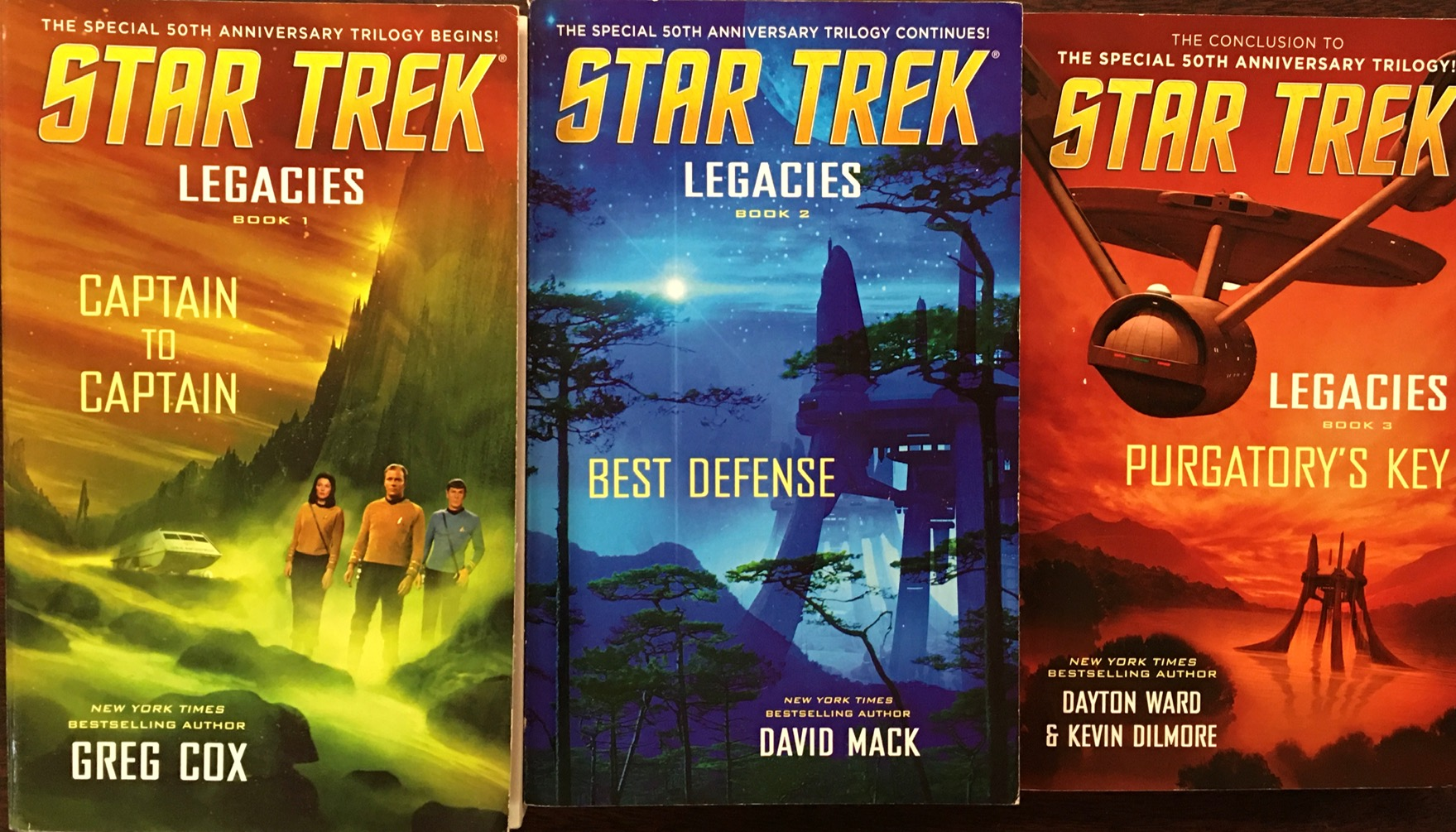 Image for Star Trek: Legacies - 3 Volume Set [Captain to Captain/ Best Defense/ Purgatory's Key]
