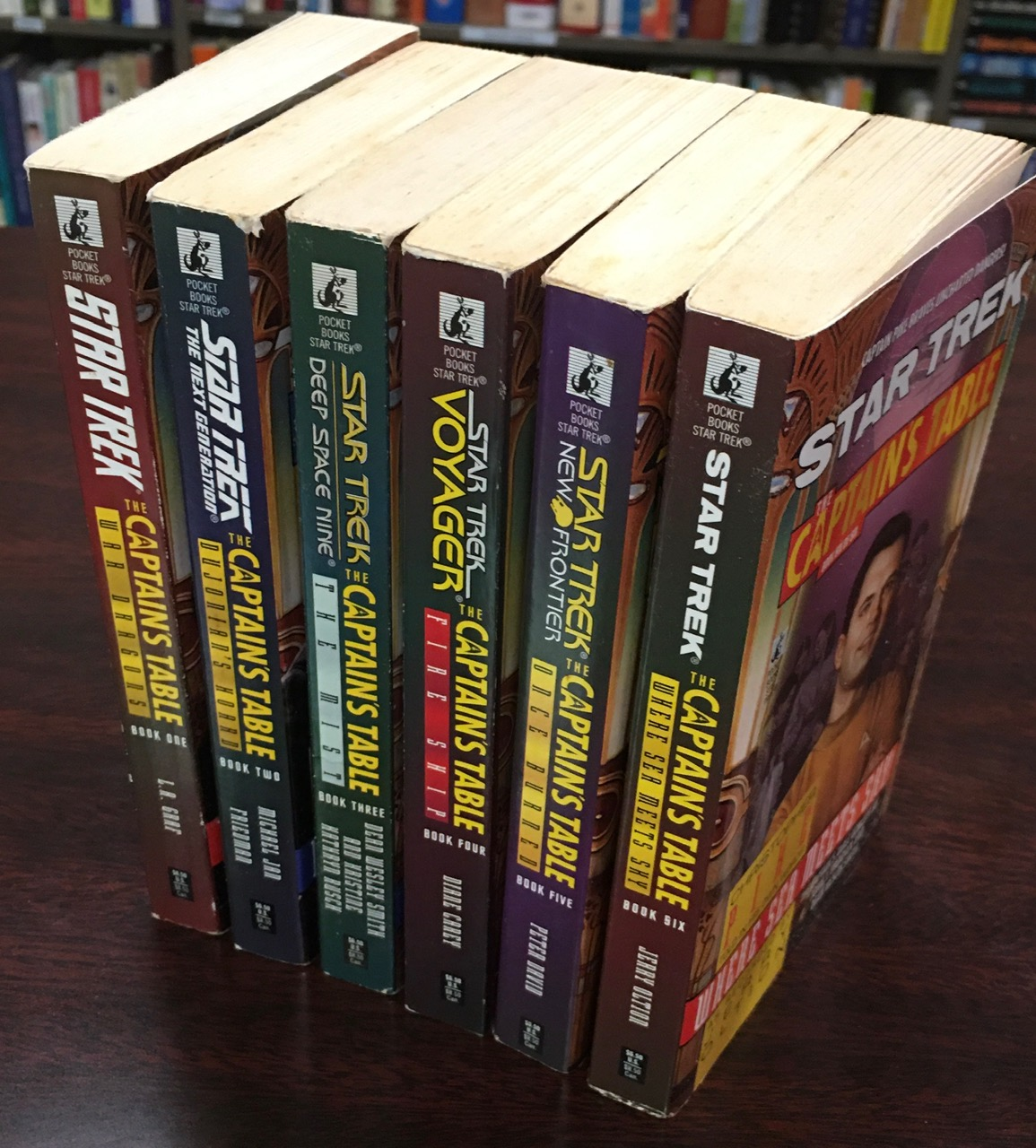 Image for Star Trek: The Captain's Table Series - 6 Volume Set (Book 1: War Dragons; Book 2: Dujonains Hoard; Book 3: The Mist; Book 4: Fire Ship; Book 5: Once Burned; Book 6: Where the Sea Meets the Sky)