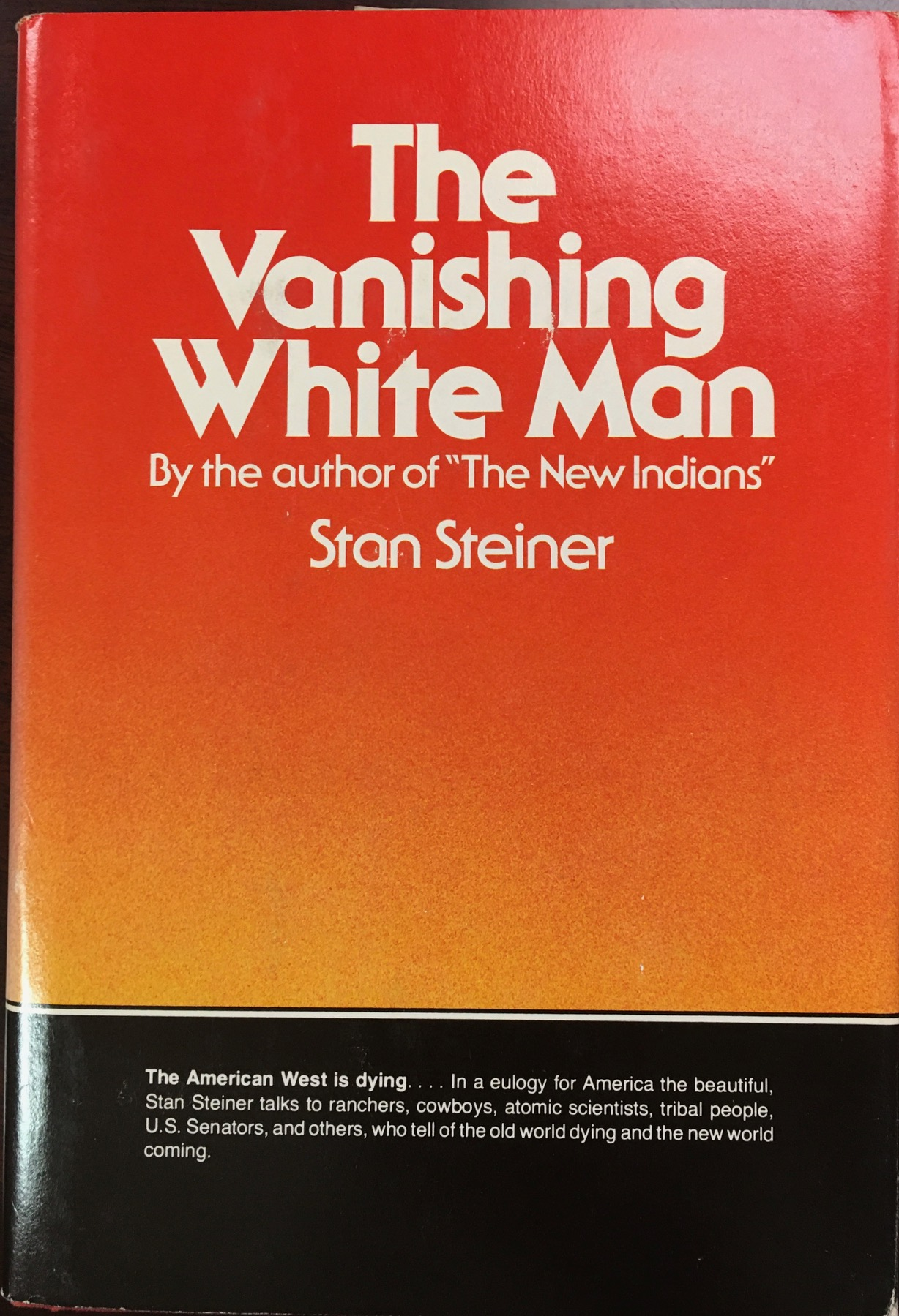 Image for The Vanishing White Man