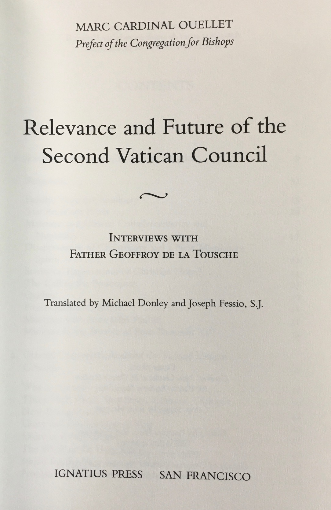 Image for The Relevance and Future of the Second Vatican Council