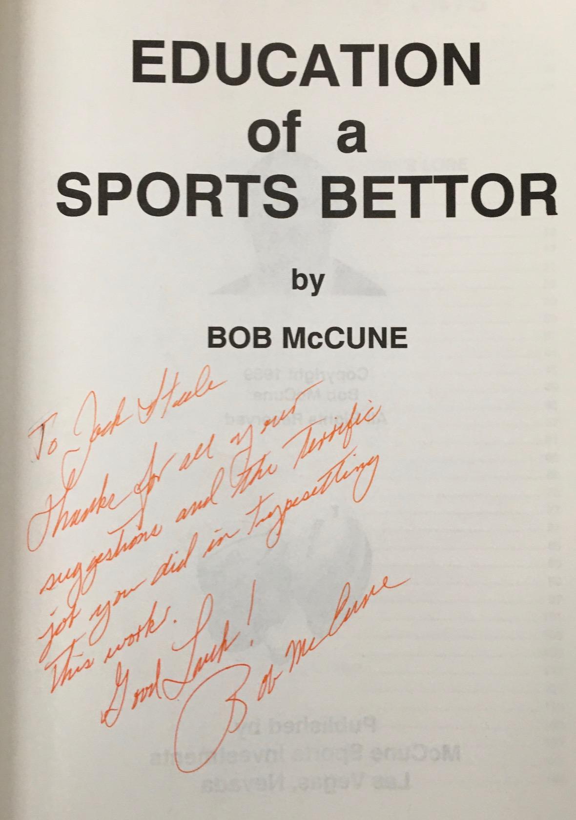 bob mccune sports betting