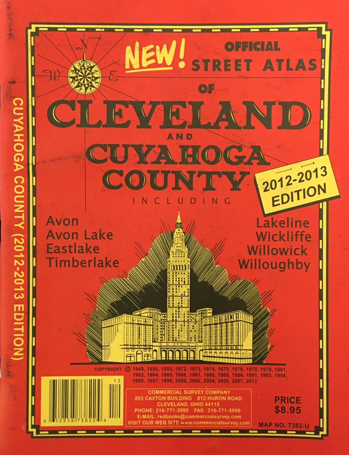 Image for Official Street Atlas of Cleveland and Cuyahoga County Including: Avon, Avon Lake, Eastlake, Timberlake, Lakeline, Wickliffe, Willowick, Willoughby (2012-2013 Edition)