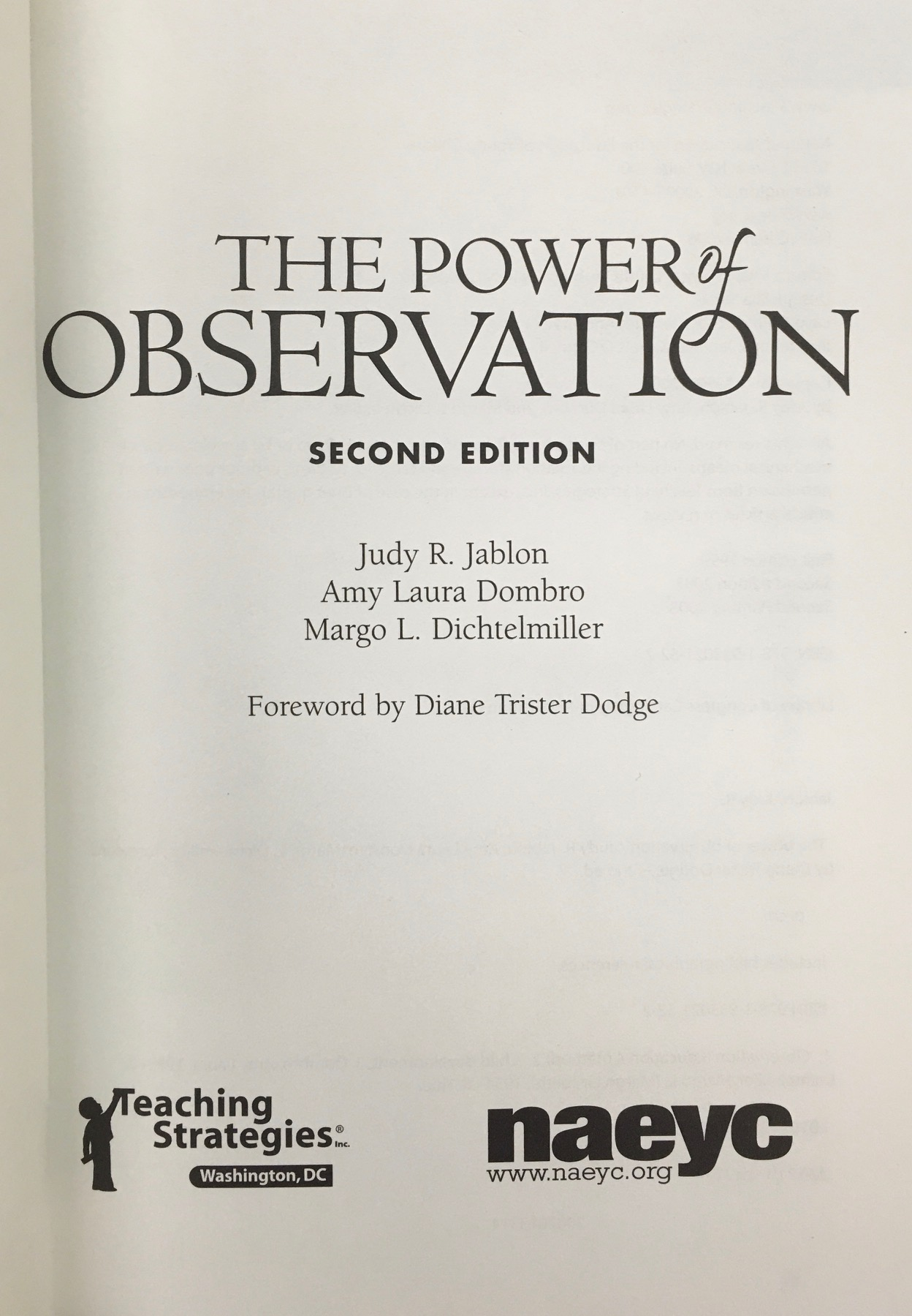 Image for The Power of Observation from Birth Through Eight