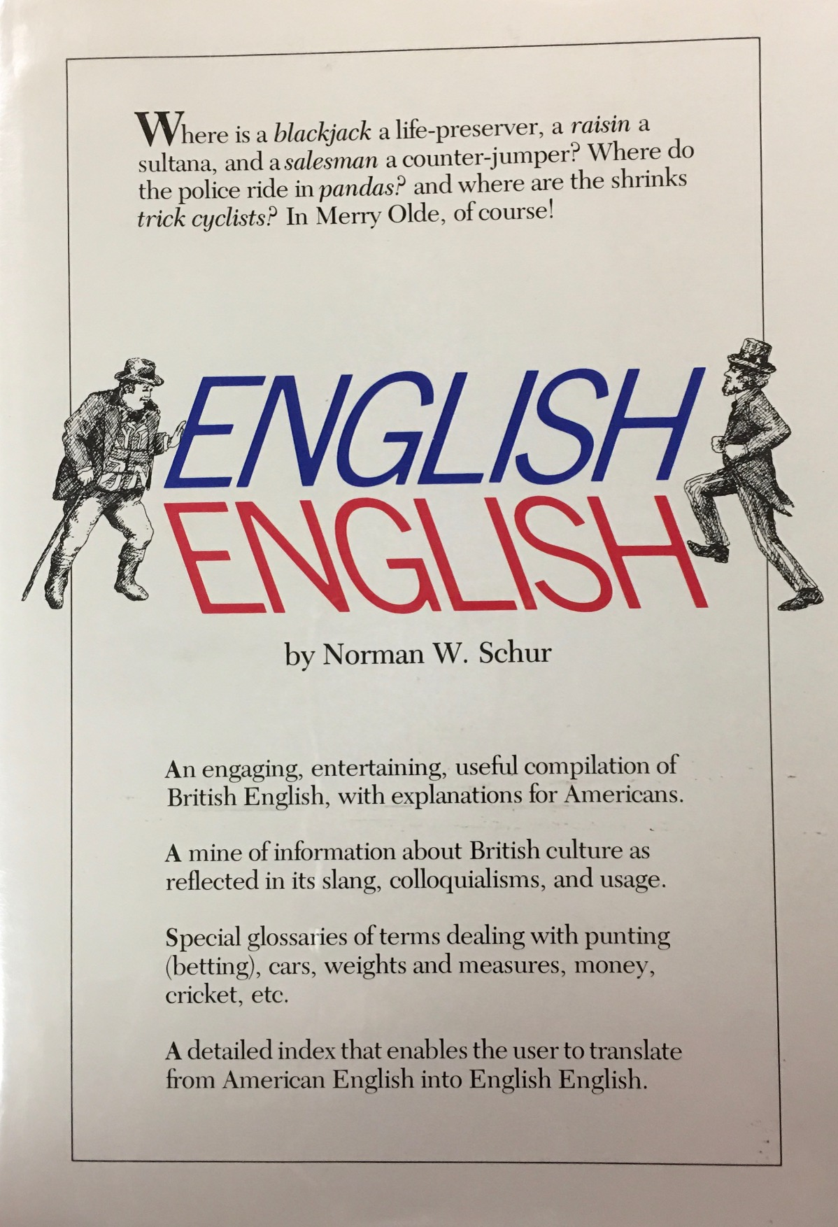 Image for English English: A Descriptive Dictionary