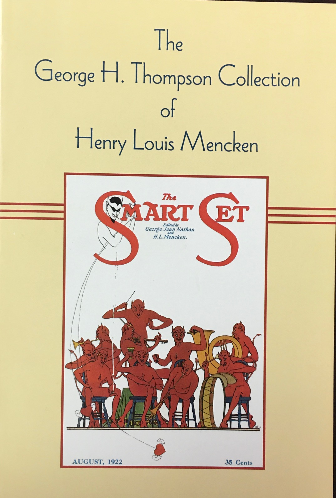 Image for The George H. Thompson Collection of Henry Louis Mencken