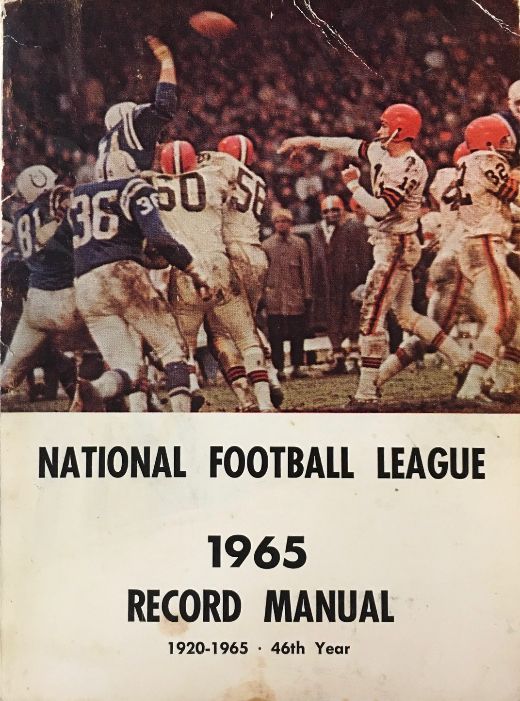 Image for National Football League 1965 Record Manual