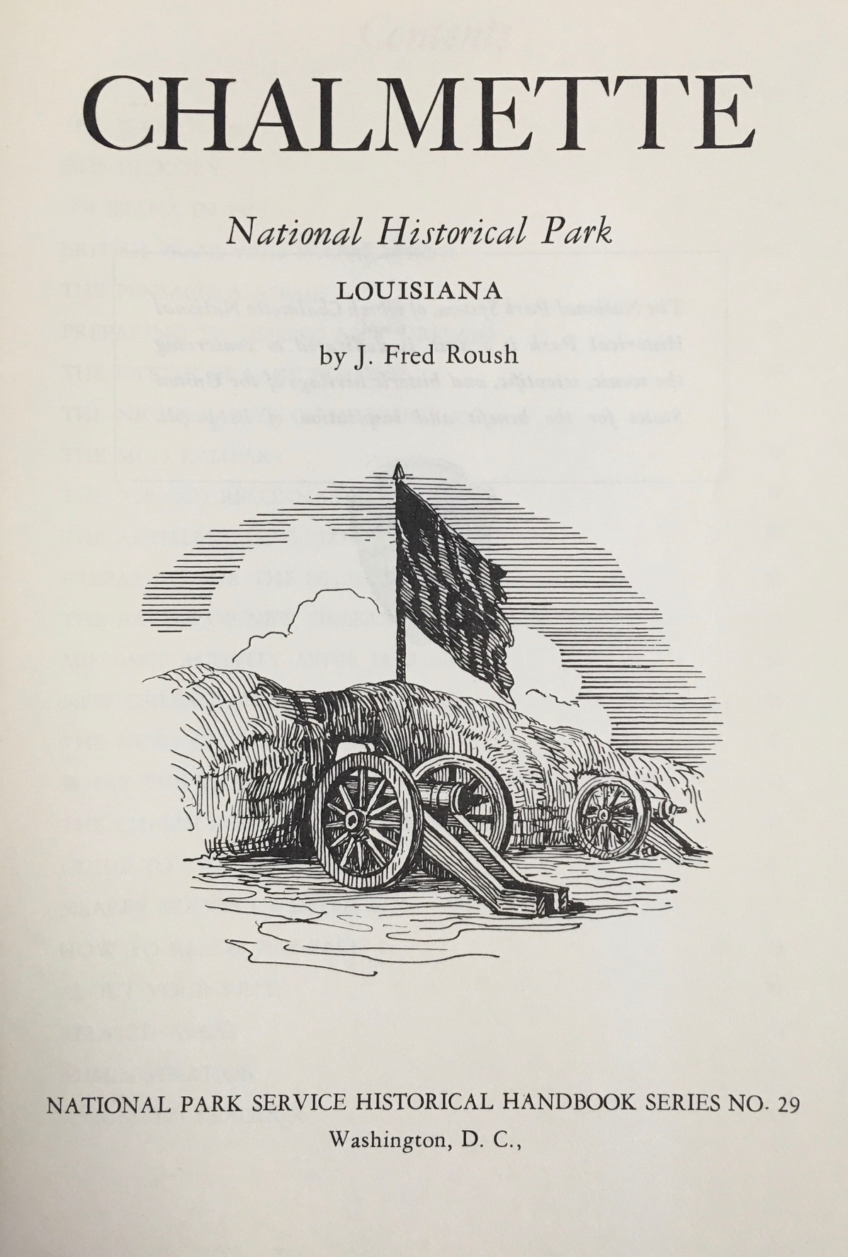 Image for Chalmette National Historical Park, Louisiana (National Park Service Historical Handbook Series No. 29)