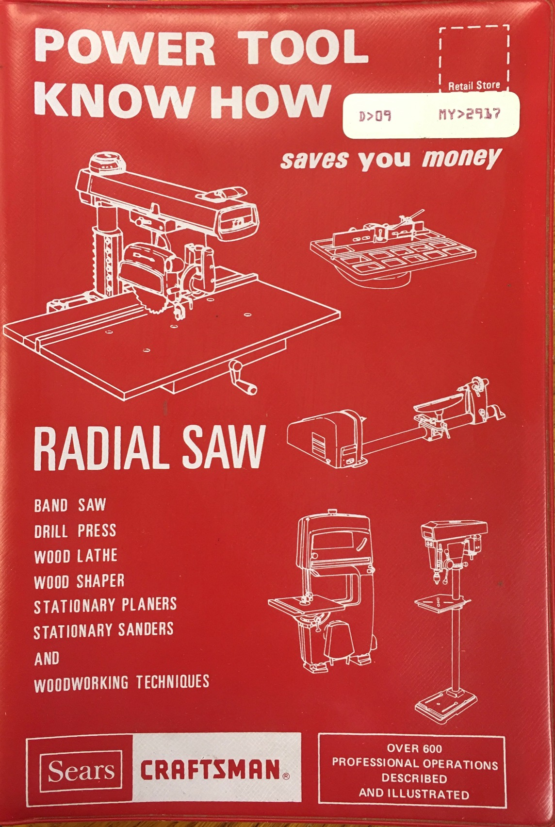 Image for SEARS CRAFTSMAN - Power Tool KNow How 'RADIAL SAW'