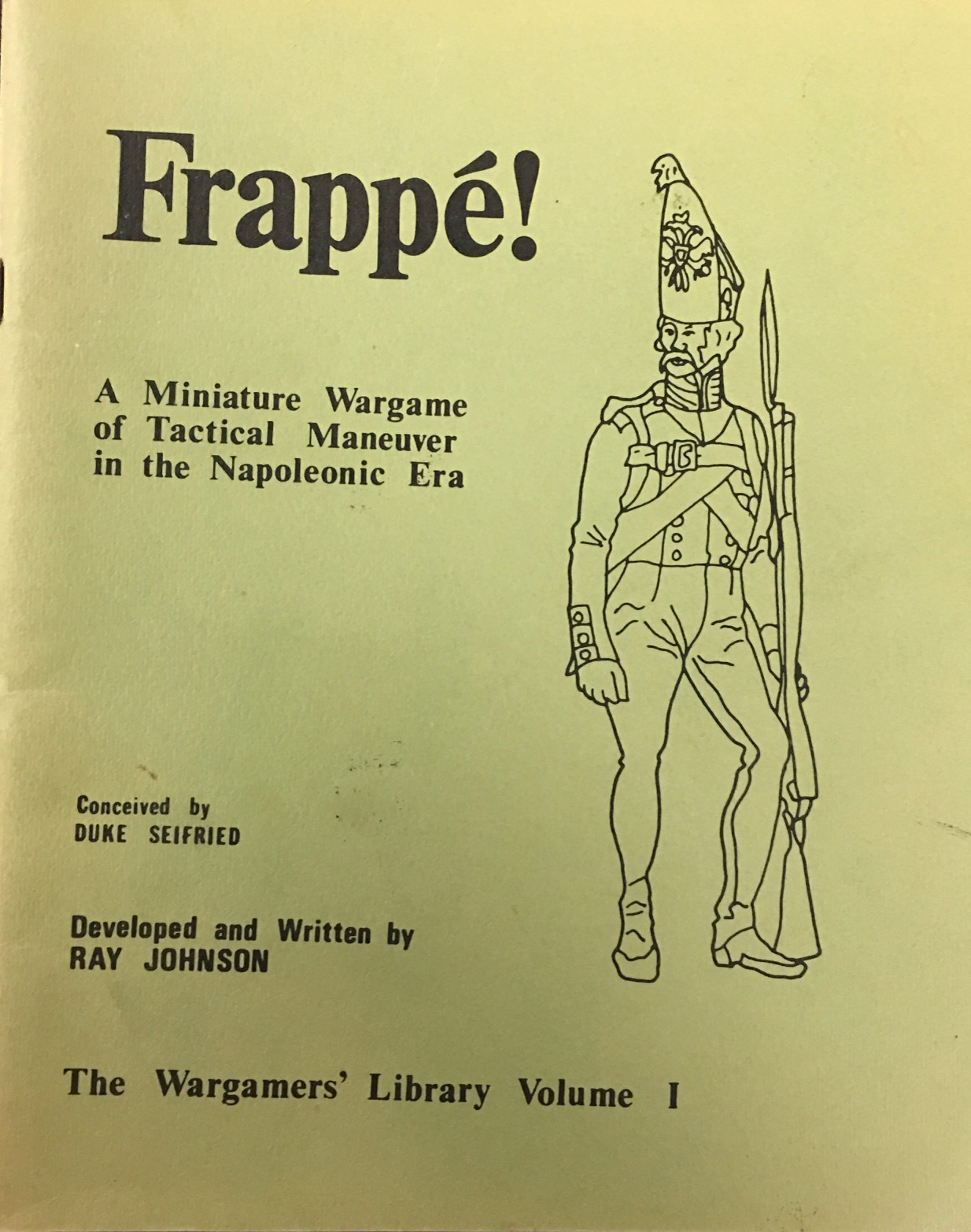Image for Frappé - Miniature Wargame of Tactical Maneuver in the Napoleonic Era - Wargamer's Library Vol I
