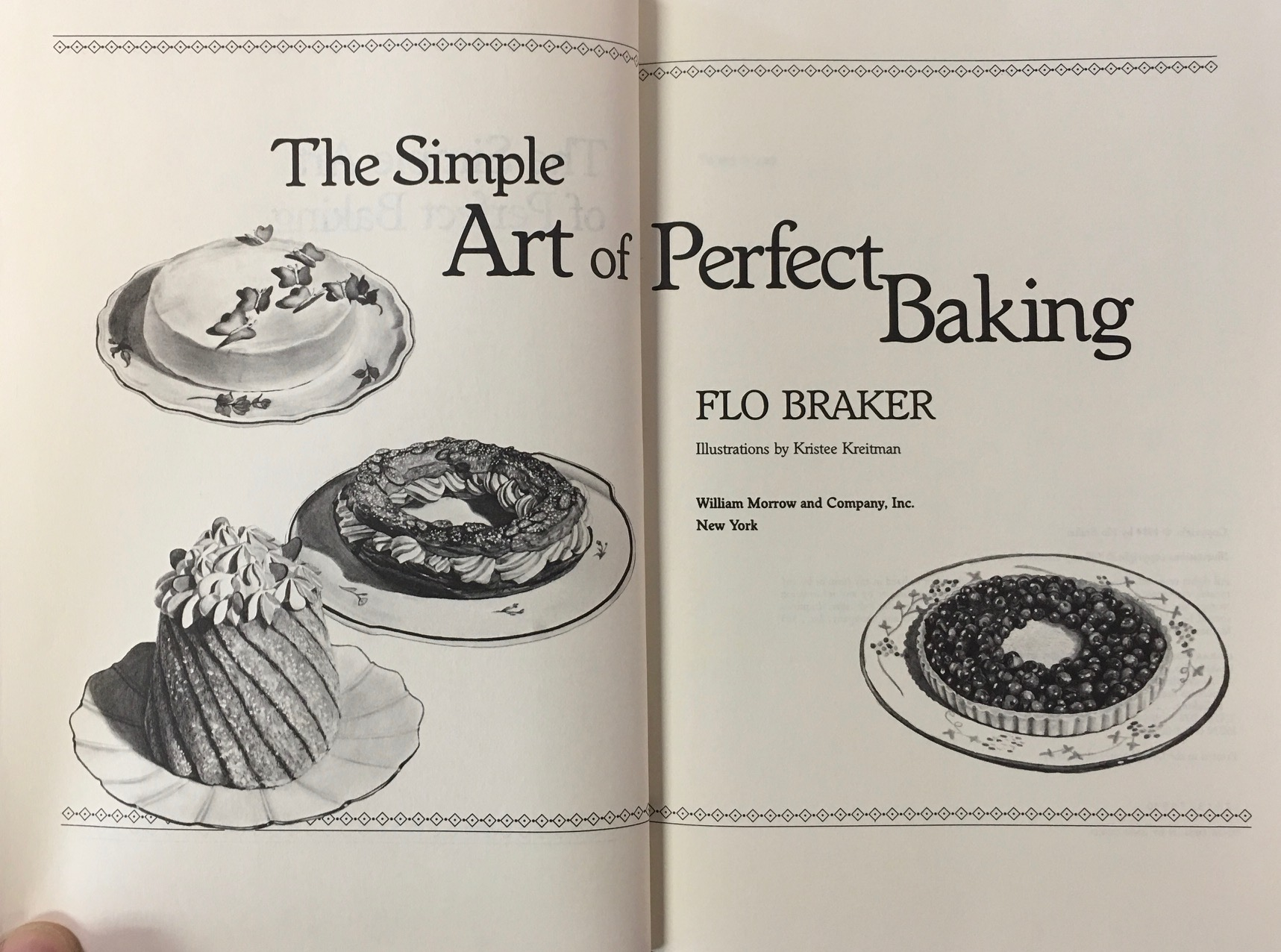 Image for The Simple Art of Perfect Baking by Flo Braker (1984-11-03)