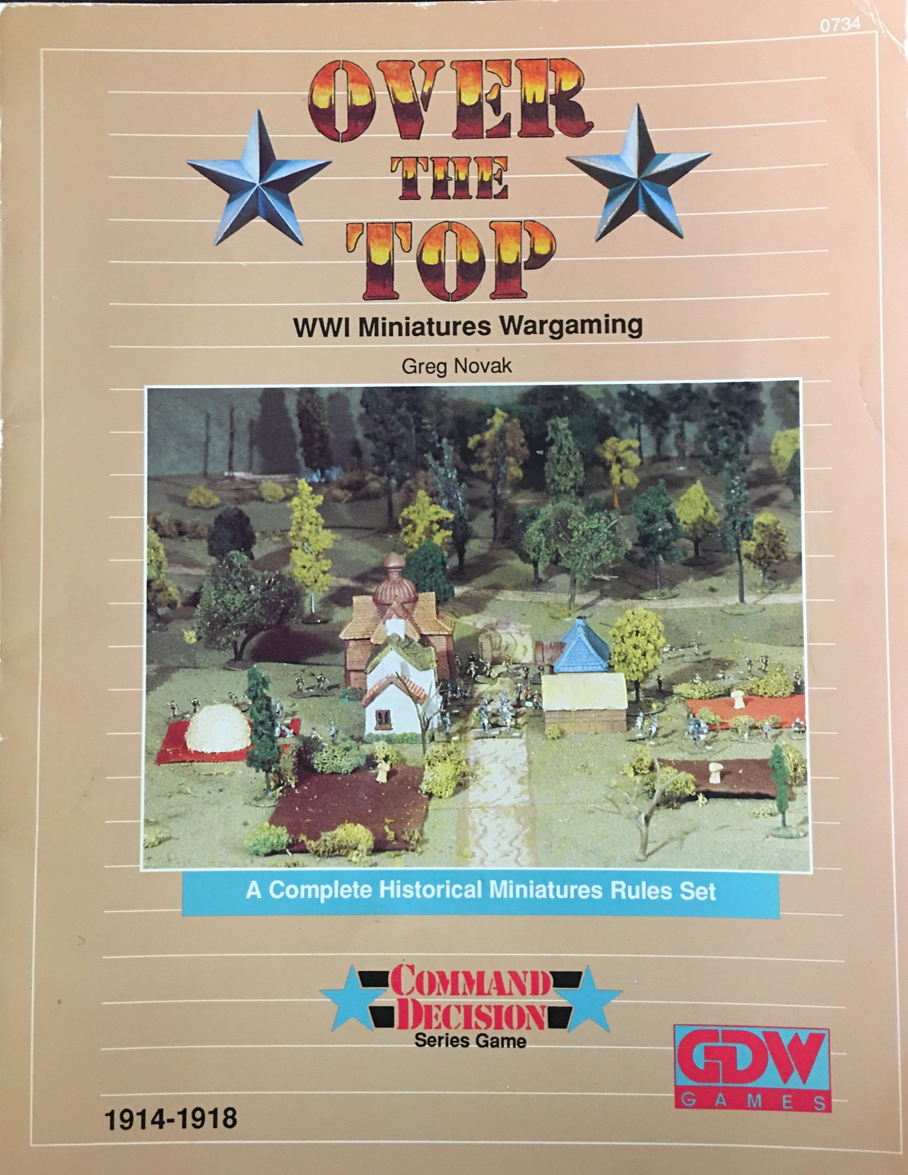 Image for Over the Top: WWI Miniatures Wargaming - A Complete Historical Miniatures Rules Set (Command Decision Series Game)