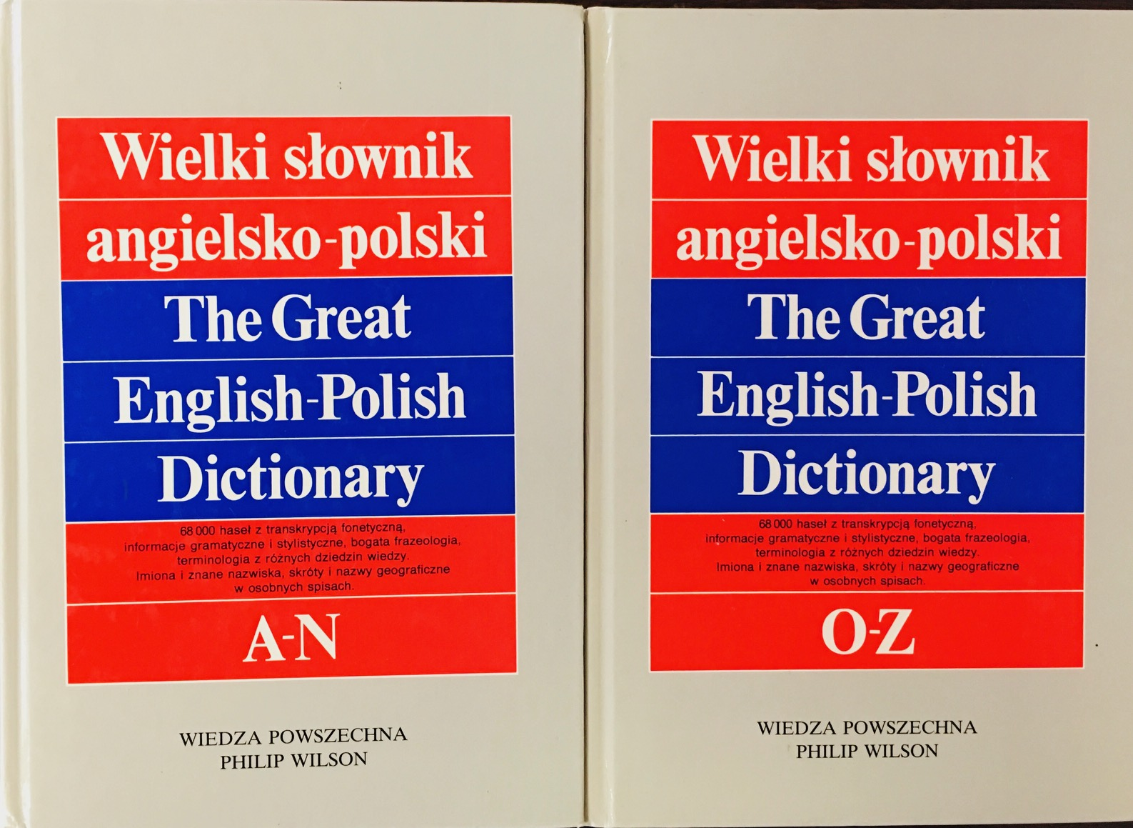 Image for The Great English - Polish Dictionary. Supplemented. Two Volumes A-N and O-Z.
