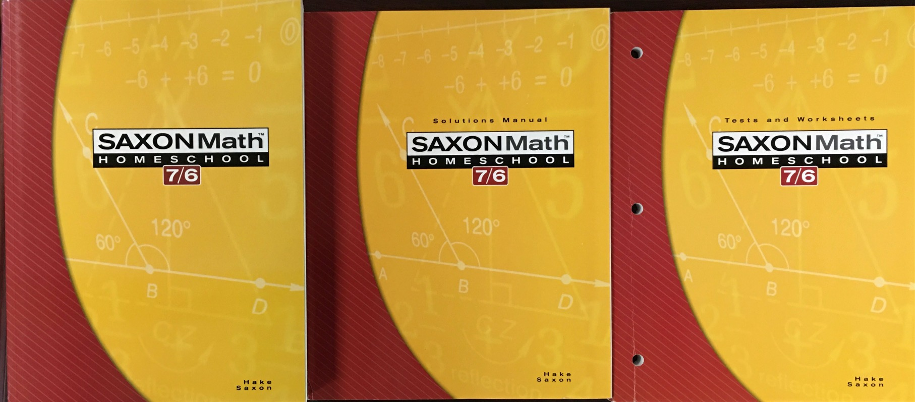 Image for Saxon Math Homeschool: 7/6 (Saxon Math 7/6 Homeschool)
