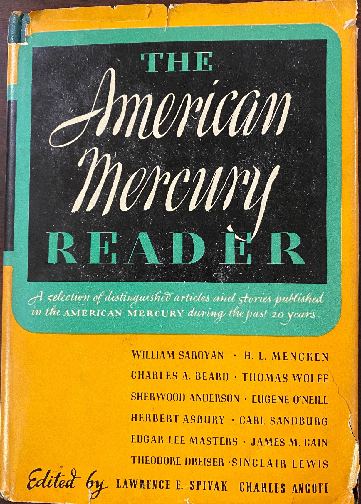 Image for American Mercury Reader: a Selection of Distinguished Articles, Stories and Poems Published in the American Mercury During the Past Twenty Years
