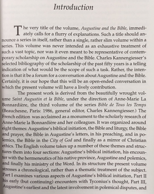Image for Augustine and the Bible