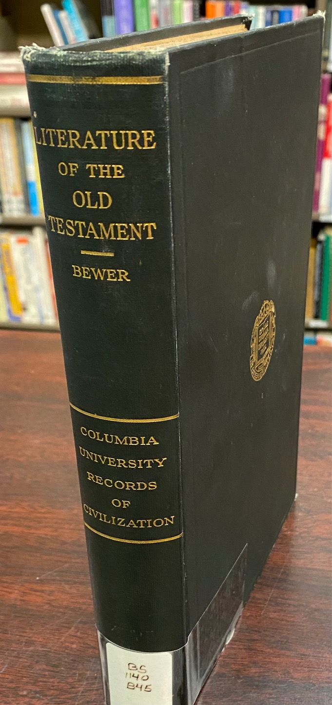 Image for The Literature of the Old Testament (Records of Civilization, Sources and Studies Volume 5)